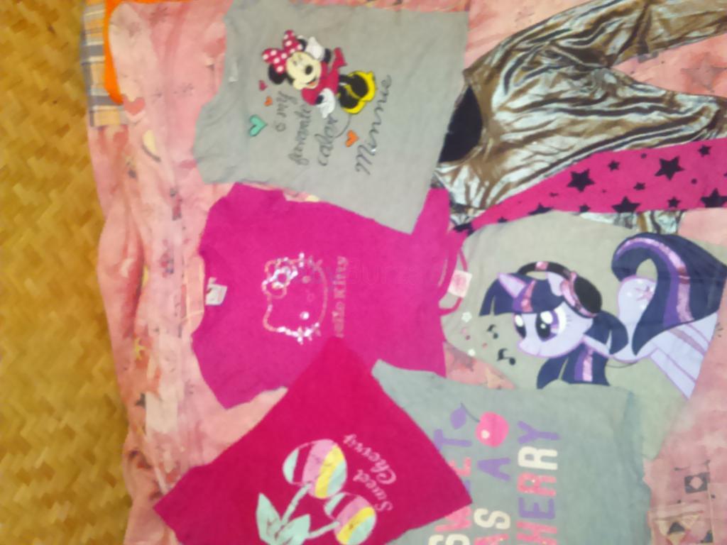 8f4ba8a2d 104-116; Balík oblečenia - tričká, tielka, pyžamo pre dievčatko, veľ.  104-116