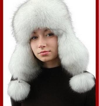 575405fc11 Čiapka z pravej kožusiny polárna líška