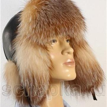 b9c413870 Pánska čiapka - kombinácia pravá kožušina a koža - myval. - 100,00 ...