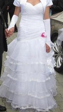 b4fe590b1e44 predám biele svadobné šaty 38 40 - 110