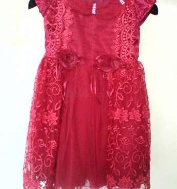 Predám červené krajkové šaty príležitostné - 35 877c271509b