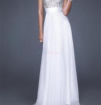 Predám dlhé biele spoločenské šaty - 70 9c60914b983