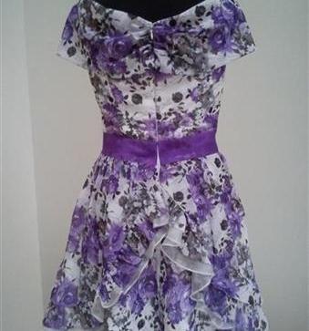 5da2228e274a Kvetované spoločenské šaty - 35