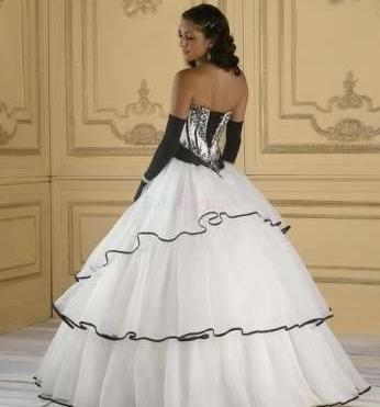 Svadobné šaty čierno biele - 190 90b7b739ea2