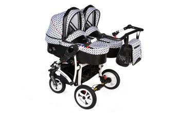 Kombinovaný kočík pre dvojičky DORJAN - DANY SPORT Prestige twin max