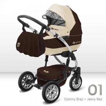 Kombinovaný kočík BABY ACTIVE - SHELL EKO