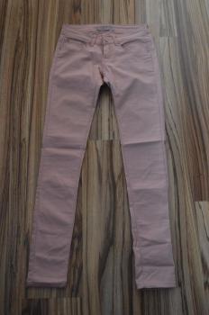 Ružové elastické nohavice