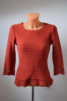 Oranžový elegantný sveter