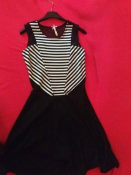 bielo čierne šaty