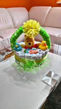 Plienková torta košík