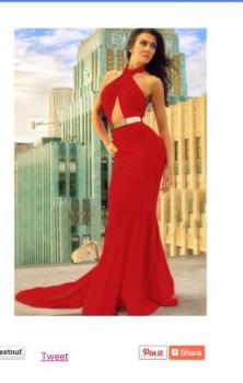 Dlhé červené šaty