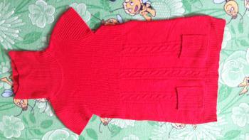 Pletená roláková vesta