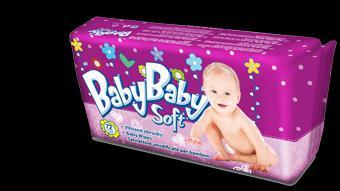 Detské vlhčené obrúsky Baby Baby Soft