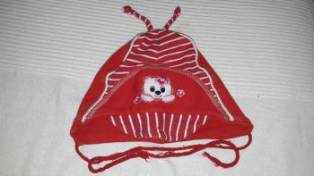 Bavlnená dievčenská čiapočka, obvod 50 cm