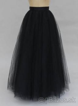 Čierna tutu sukńa maxi -nová
