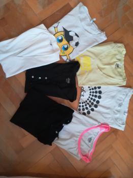 Rôzne tričká s krátkym rukávom