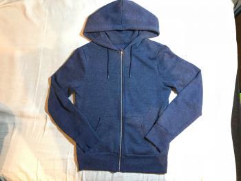 Modrá mikina na zips