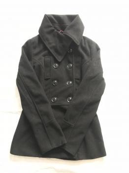 Čierny dámsky kabátik