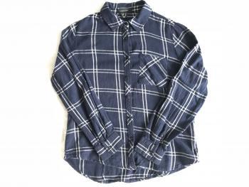 Modrá károvaná košeľa