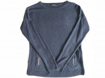 Modrý sveter so zipsami