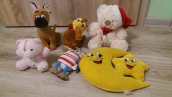 Plysove hračky 6 ks