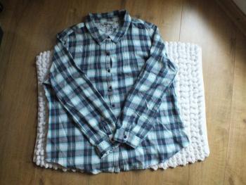 Svetlomodrá károvaná košeľa