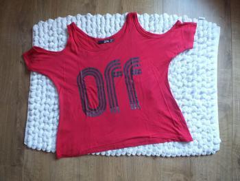 Tričko s voľnými ramenami