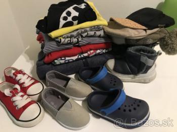 Balík topánok a oblečenia 18-24mes.