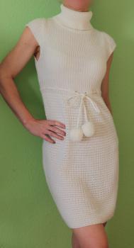 Biele úpletové šaty 34-36