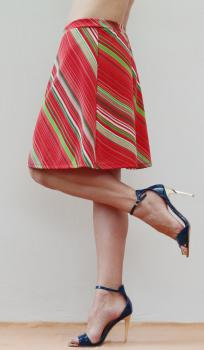 Retro sukňa pruhovaná, veľ.36