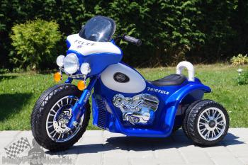Elektrická motorka Chopper modrá