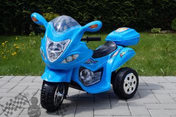 Elektrická motorka M modrá