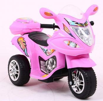 Elektrická motorka M ružová