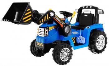 Elektrický traktor Power - modrý