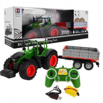 DOUBLEE RC Traktor s prívesom
