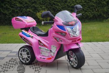 Elektrická motorka L ružová