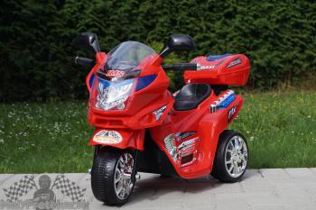 Elektrická motorka L červená