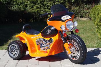 Elektrická motorka Chopper oranžová