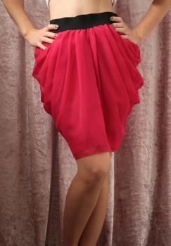 Červená šifónová sukňa, S-M