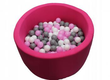 Ružový ružovučký suchý bazénik + 300 loptičiek na výber