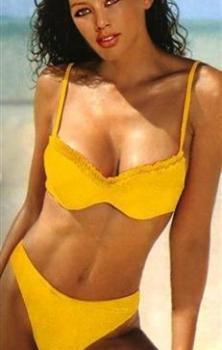 Dvojdielne žlté plavky