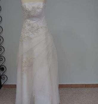 9f47a8adf8e4 Predám luxusné mušelínové svadobné šaty - 299