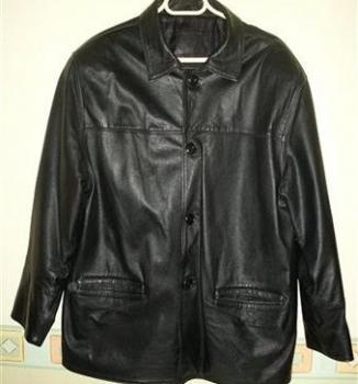 Predám pánske čierne kožené sako