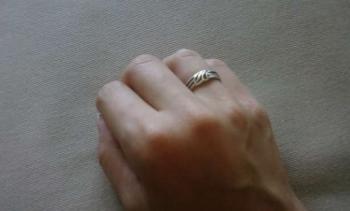 Strieborný prsteň č.3